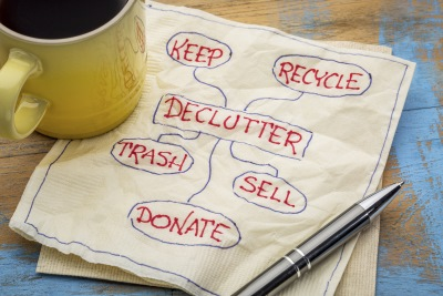 make a list, effective decluttering